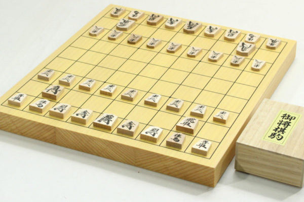 新榧将棋盤10号卓上 駒セット(上別製源平)