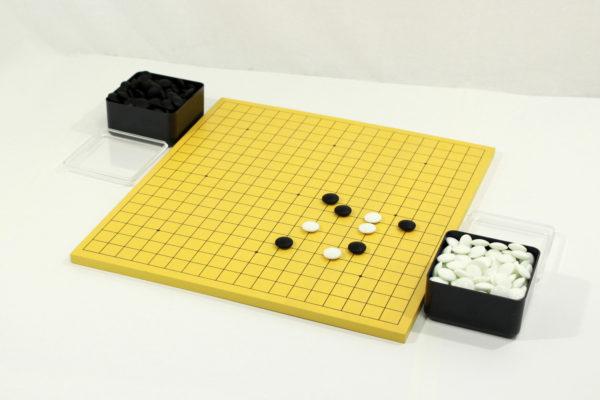 初心者(MDF)囲碁セット(PK碁器+P石6mm)