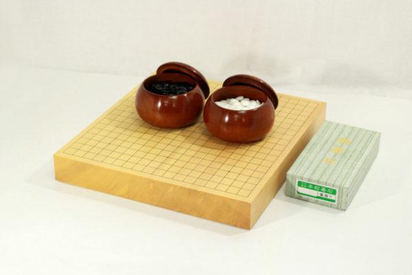 新榧碁盤20号卓上セット(新桜碁笥+本蛤28号実用)