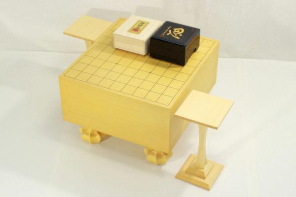 エコ将棋50号セット(白椿上彫+駒箱忍+駒台)