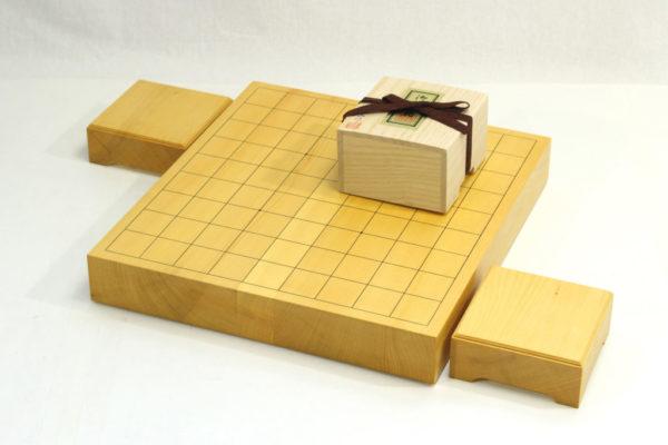 本榧将棋盤20号卓上セット(本つげ上彫+駒台)