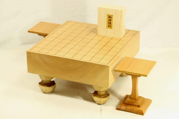 本桂将棋盤30号 駒+駒台セット(白椿上彫り)