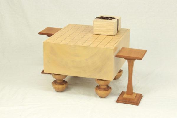本桂将棋盤40号 上級者セット(本つげ上彫+駒台)