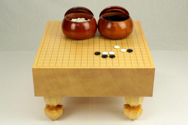 新榧碁盤40号セット(新桜碁笥+本蛤25号実用)