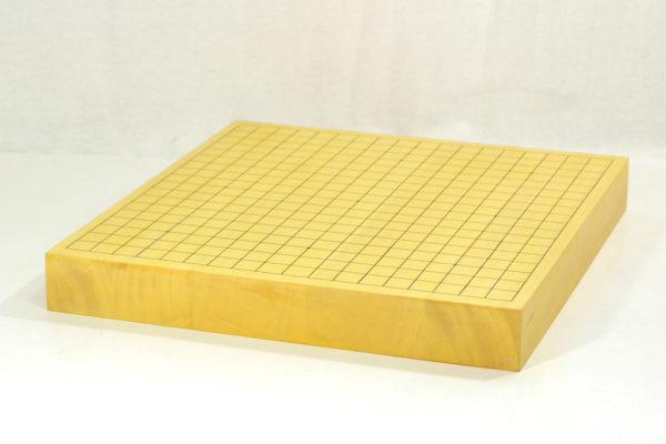 ヒバ碁盤20号卓上ハギ 碁石+碁笥セット(本蛤22号実用・新桜)