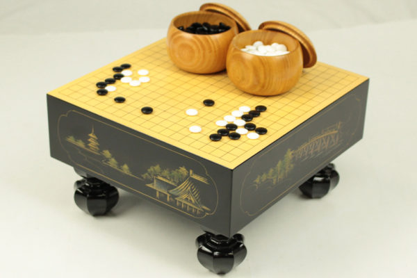 漆芸沈金 ミニ碁盤(4分石用)