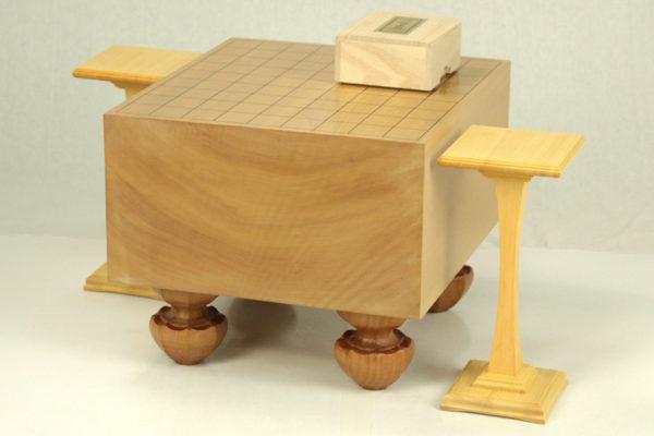 本桂将棋盤60号3点セット(本つげ上彫)