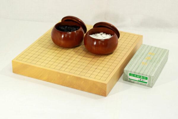 新榧卓上碁盤20号柾目セット