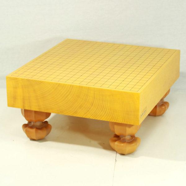本榧碁盤 3寸柾目脚付盤