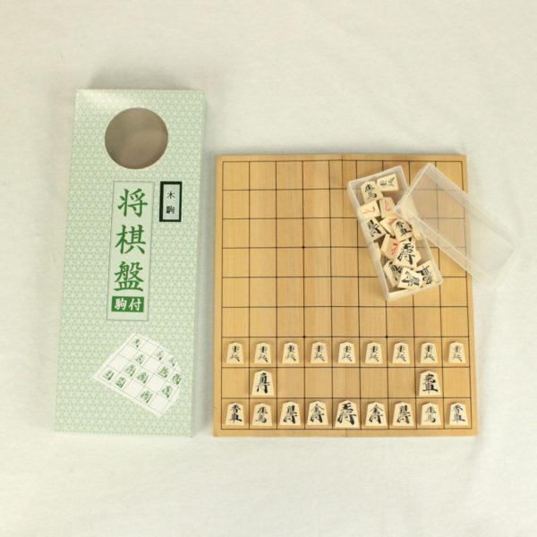 折将棋盤木駒付セット『木駒の中寸』