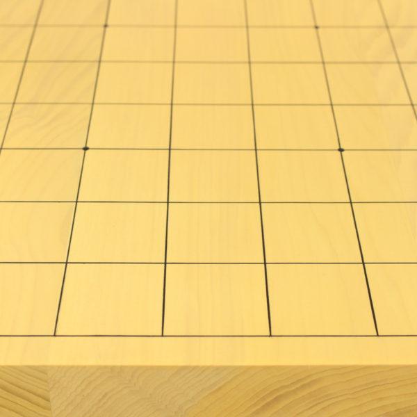 本榧将棋盤 10号板目ハギ 駒付セット